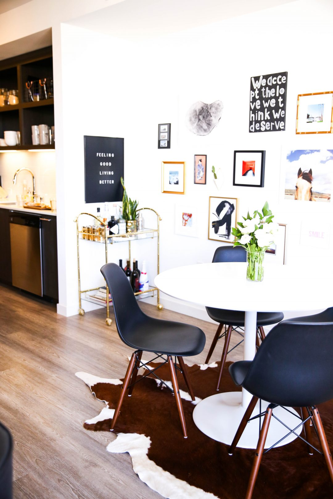 A Colorful San Francisco apartment in Hayes Valley featuring budget friendly decorating options.