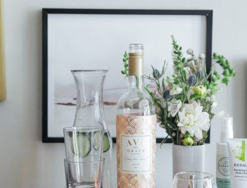 How To Host An At Home Spa Night with AVA Grace wine.